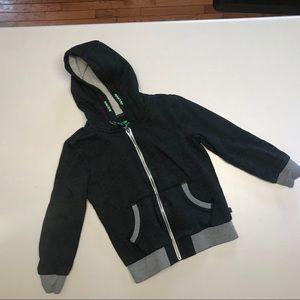 Other - European Kids Grey Sherpa Lined Zip Hoodie-Size 10